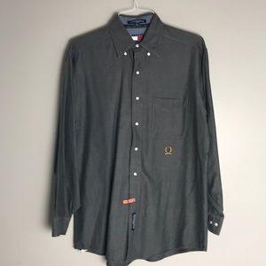 Vintage Tommy Hilfiger Gray Dress Shirt 15 32-33